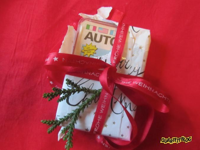 Autoquartett als Weihnachtsgeschenk