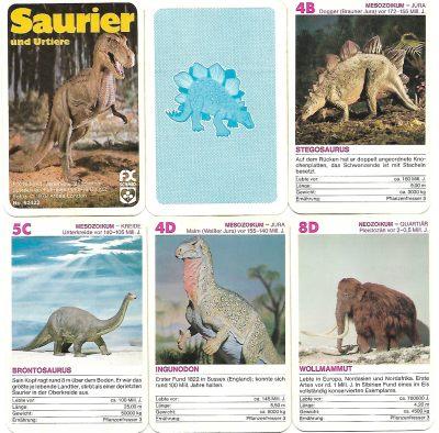 """Das Quartett """"Saurier und Urtiere"""""""