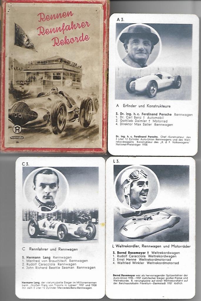 Historisches Autoquartett von Hausser 1983