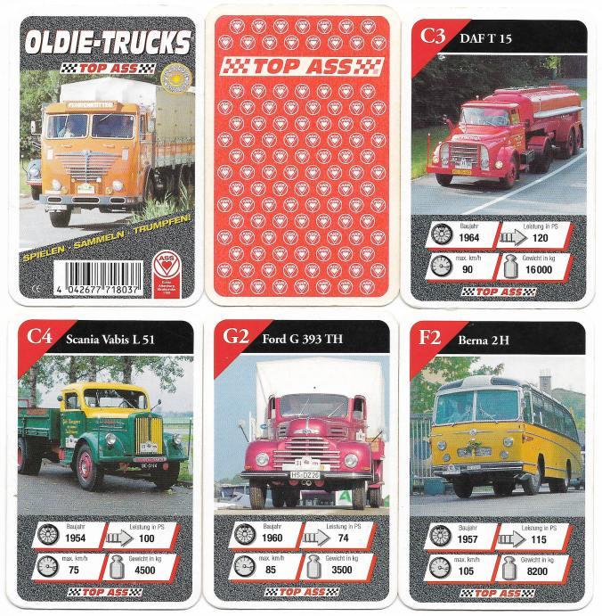 Das LKW-Quartett Oldie-Trucks von 2001